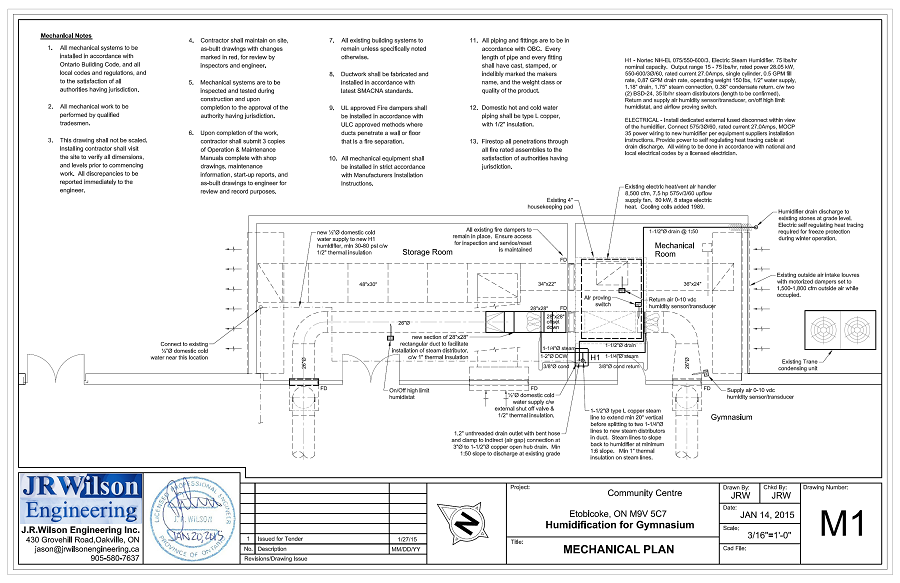 Hvac plumbing drawings and calculations for commercial permit for Plumbing plans examples