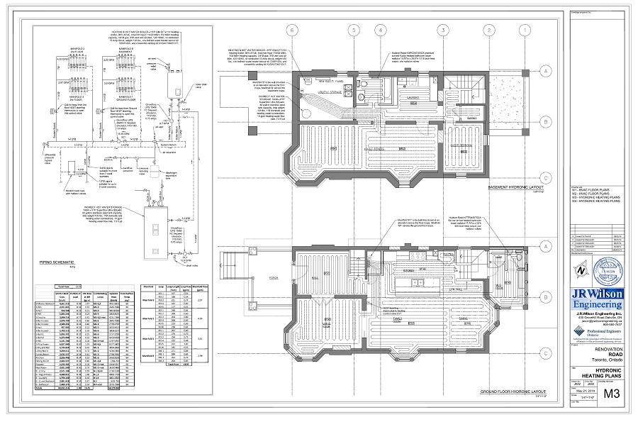 Hvac drawings calculations for residential permit ontario for Residential building plans dwg